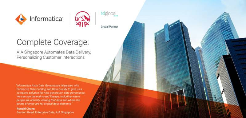 Complete Coverage: AIA Singapore Automates Data Delivery, Personalizing Customer Interactions