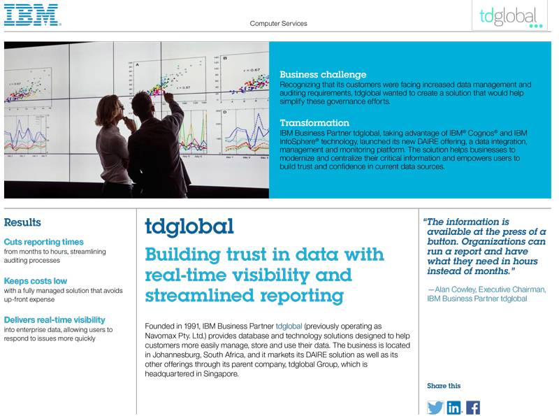 Building trust in data with real-time visibility and streamlined reporting